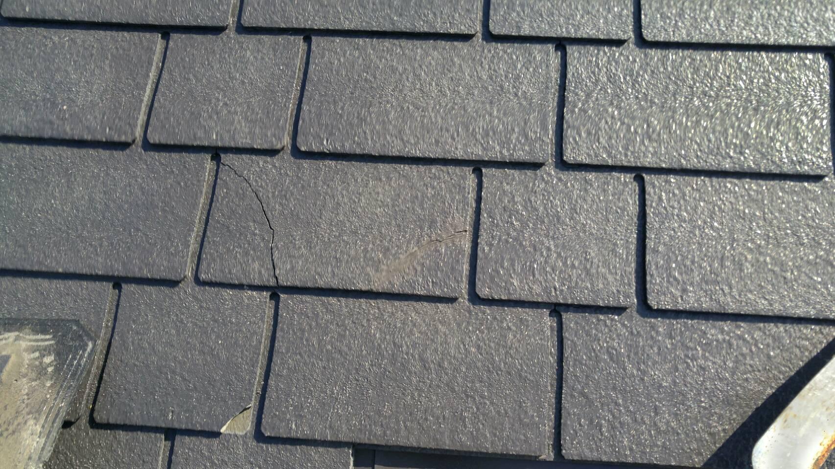 スレート屋根のクラック
